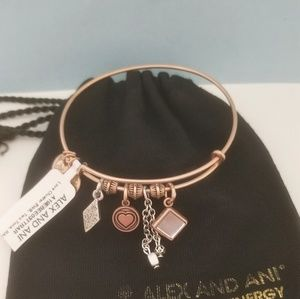 Alex and Ani Love Cluster Bracelet
